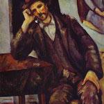Uomo che fuma la pipa - 1895-1900 - Olio su tela