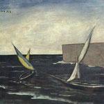 Carlo Carrà - Vele nel porto (1923)