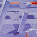 Crollo n. 7, 1943, olio su tela, cm 30,7x51,5.