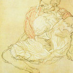 Woman seated with thighs apart, 1916