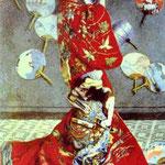 Claude Monet - Madame Molti in costume giapponese (La Japonais) - 1875 - Olio su tela