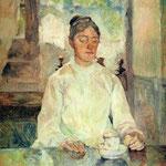 Adele-Zoé Contessa di Toulouse-Lautrec, madre dell'artista - 1883 - Olio su tela