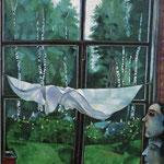 Finestra sulla campagna - 1915 - Olio su tela