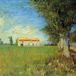 Farmhouse in a Wheat Field, 1888