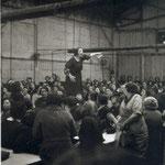 Grève chez Citroën-Javel pour la défense des droits acquis, Paris, 1938