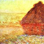 Claude Monet - Pagliaio a Giverny vicino al tramonto - 1891 - Olio su tela