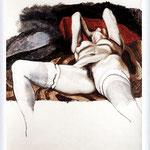 Renato Guttuso - Nudo di donna, 1980