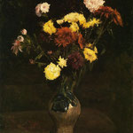 Basket of Carnations and Zinnias, 1886
