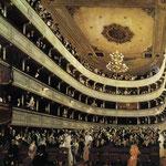 Burgtheater Vecchio - 1888/1889 - Gouache su carta