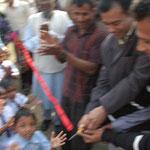 Shakil und Biltu beim Empfang an der Schule