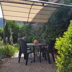 Terrasse mit Sitzgelegenheit Ferienwohnung Watzmann