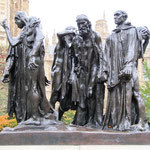 Derrière Houses of Parliament - Statue de Rodin Les Bourgeois de Calais