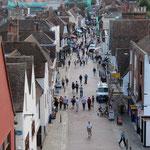La vue sur St Peter's street depuis Westgate Towers