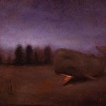 La Ballena (nocturno), óleo sobre lino, 22 x 27 cm.