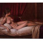 Dánae (boceto), óleo sobre lino,  22 x 27 cm.