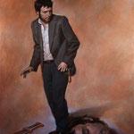 David y Goliat, óleo sobre arpillera, 170 x 127 cm.