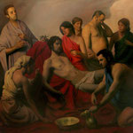 Apolo envanecido, óleo sobre lino, 185 x 185 cm. Colección particular
