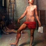 La Soberbia, óleo sobre arpillera, 195 x 146 cm.