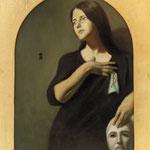 Abstracción de un fantasma, óleo sobre lino, 110 x 92 cm.
