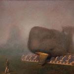 La ballena, óleo sobre lino, 27 x 35 cm. Colección particular.