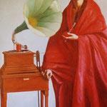 El inventor, óleo sobre lino, 230 x 100 cm. Colección particular