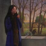 La ventana, óleo sobre lino, 46 x 38 cm. Colección particular.