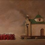 La ermita, óleo sobre lino, 81 x 100 cm.