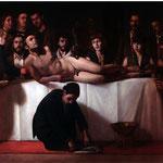 El Banquete, óleo sobre lienzo, 156 x 230 cm.