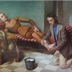 Pigmalión y Galatea, óleo sobre lino, 116 x 146 cm.