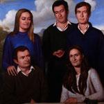 Retrato de cinco hermanos, óleo sobre lino,130 x 97 cm. Colección particular