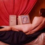 Ensoñación barroca con un avatar, óleo sobre lino, 100 x 160 cm.
