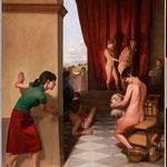Sancta Sanctorum, óleo sobre lino, 270 x 200 cm. Colección particular.