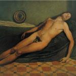 El durmiente, óleo sobre lienzo, 130 x 195 cm.