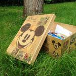 Die Überraschungsbox - jeder der Teilnehmer/Innen hat eine Überraschung rein getan. Eine tolle Idee!