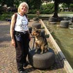 Brigitte mit Shila