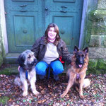 meine beiden Begleiter (Sabine Padberg mit Nanuk und Ayana)