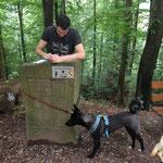 """Tobias mit Luci beim """"Hundechaos"""""""