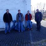 die fleißigen Helfer Karl-Peter, Tina, Danica und Rainer (v. links)