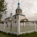 "Russisch-orthodoxe Kirche ""Holy Assumption of the Virgin Mary"" in Kenai"