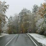 Den Kälteeinbruch erlebten wir noch unterwegs