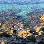 Sentier littoral du cap Lardier depuis la plage de Gigaro
