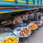 Une partie de la population travaille et vit sur les trottoirs souvent dans une extrême précarité