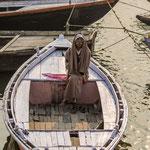 Batelier dans sa barque