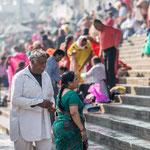 Un couple sur les ghâts d'Haridwar