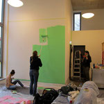 Helles Grün für die großen Wände