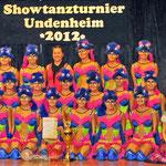 Siegerfoto in Undenheim mit den Mädels von Dance Emotion (2.) und den Sweet Diamonds (3.)