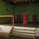 Bühne dekoriert