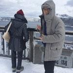 青森県から冬の摩周湖