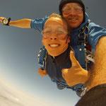 Fallschirm springen Bogen
