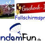 Tandem Fallschirmsprung Geschenkidee